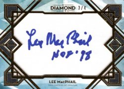 Lee McPhail 2020 Topps Diamond Icons Cut Signatures Gold