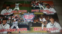 2012   Richmond Flying Squirrels 2012 All Star Autographed Poster Chris Heston / Daniel Mayora / Tommy Joseph / Brett Bochy