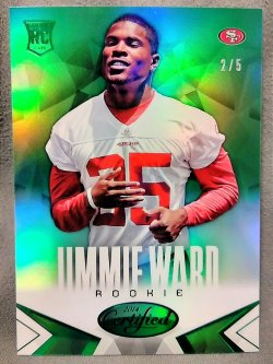 2014 Panini Certified Jimmie Ward Rookie Mirror Green Parallel