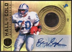 2011   Barry Sanders Gold Standard Hall of Gold 14k Piece Auto #6/10
