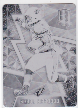 2016  Panini Spectra Plates and Patches Printing Plates Black Edgerrin James