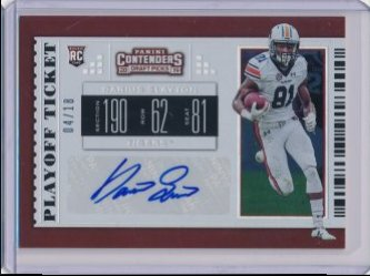 Darius Slayton 2019 Panini Contenders Draft Picks College Playoff Ticket Autograph /18