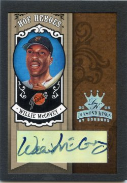 2005 Donruss Diamond Kings Willie McCovey HOF Heroes Signature Framed Black Platinum