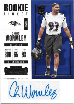 2017 Panini Contenders Rookie Ticket Autographs Chris Wormley