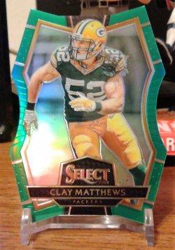 2016 Panini Select Die Cut Green Clay Matthews