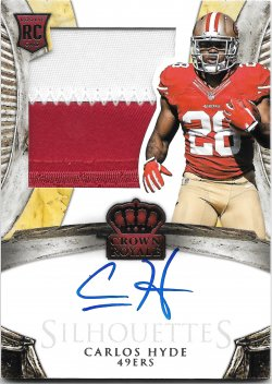 2014 Panini Crown Royale Silhouettes Jersey Autographs Carlos Hyde