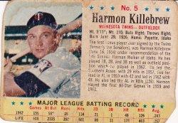 1963  Post Harmon Killebrew