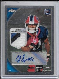 2010 Topps Chrome Rookie Autograph Patch - C.J. Spiller