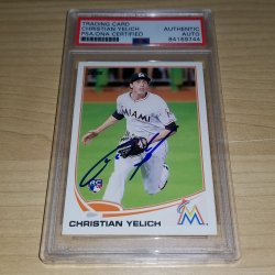 2013 Topps Update Christian Yelich RC Autograph