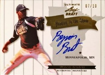 2012 Leaf Ultimate Draft Heading to the Show Autographs Gold Byron Buxton