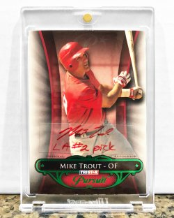 2010  Tristar Mike Trout Auto (Red Ink & Inscription) /25