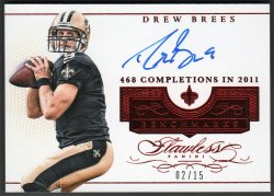 2016   Drew Brees Flawless Benchmarks RUBY Parallel Auto #2/15