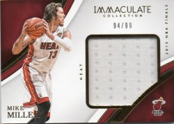 2016-17 Panini Immaculate Collection Miller, Mike - Special Event Materials