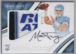 2017 Panini Immaculate Collection Collegiate Mitchell Trubisky Premium Patches Rookie Autograph Bowl Logo