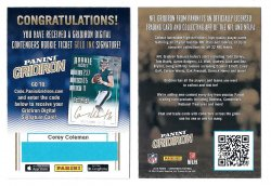 2016 Panini Contenders Football Corey Coleman Gridiron Digital Gold Autograph