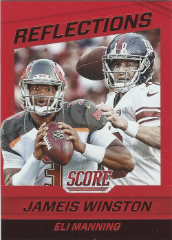2016 Panini Score Red Reflections Jameis Winston/Eli Manning