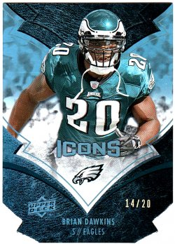 2008 Blue Die Cut Dawkins /20