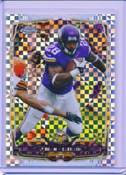 Adrian Peterson 2014 Topps Chrome Xfractor