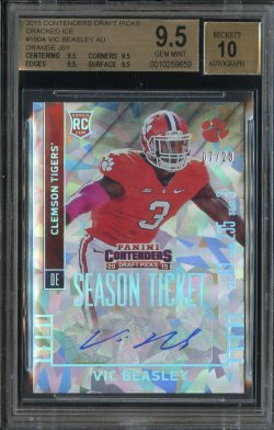 2015 Playoff Contenders Draft Picks Cracked Ice Auto Vic Beasley
