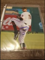 Tyler Beede 8x10 Photo IP Autograph