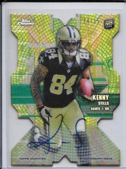 2013 Topps Chrome Rookie Die Cut Autograph - Kenny Stills