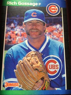 1989 Donruss  RICH GOSSAGE #158 Chicago Cub Padre Yankee WhiteSoX AllStar RHP
