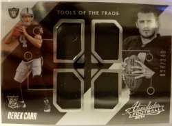 2014 Panini Absolute Tools Of The Trade Quad Relic  Derek Carr