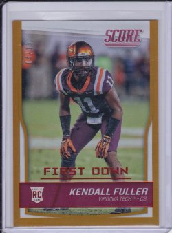 Kendall Fuller 2016 Score First Down RC /10