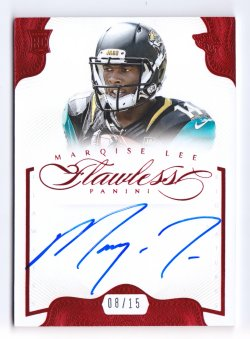 2014 Panini Flawless Rookie Flawless Signatures Ruby #11 Marqise Lee/15