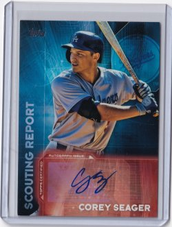 2016 Bowman Series 1 Scouting Report Autograph Corey Seagere
