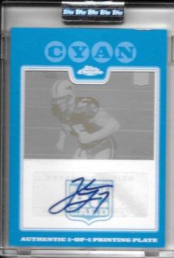 2008 Topps Chrome Cyan Printing Plate Autograph - Jake Long