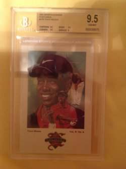 2001  Sports Legends Postcards Tiger Woods #H78