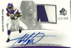2007  SP Authentic Adrian Peterson Rookie Patch Auto