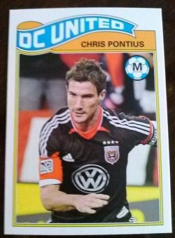2013 Topps MLS 1978 English Footballer Set Chris Pontius