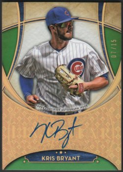 2017   Kris Bryant Topps Five Star Green Parallel Auto #7/15