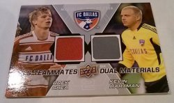 2012 Upper Deck MLS Teammates - Dual Materials Brek Shea & Kevin Hartman