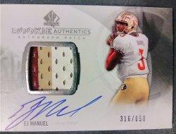 2013 Upper Deck SP Authentic EJ Manuel Rookie Authentics Autograph Patch