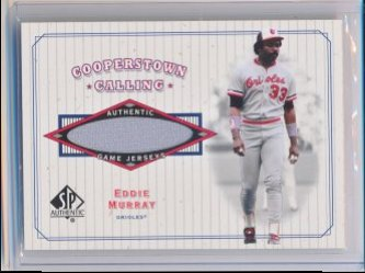 Eddie Murray 2001 SP Authentic Cooperstown Calling Game Jersey