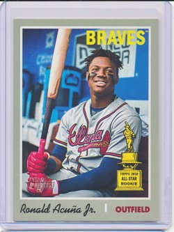 Ronald Acuna 2019 Topps Heritage SP