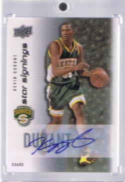 2008 Upper Deck  Kevin Durant Autograph