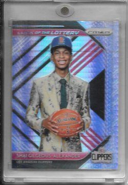 2018-19 Panini Prizm Shai Gilgeous Alexander Luck of the Lottery Hyper Prizm
