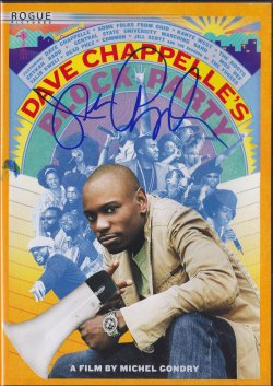 2015   Dave Chappelles Block Party DVD Cover Signed IP by Dave Chappelle