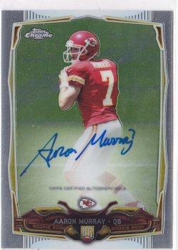 2014 Aaron Murray Topps Chrome  On-Card Auto RC    Chiefs A5703