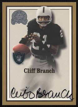 2000  Greats Of The Game Gold Border Autographs Cliff Branch