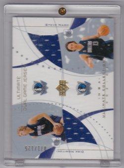 2002-2003 Upper Deck Ultimate Dual Jerseys Dirk Nowitzki / Steve Nash