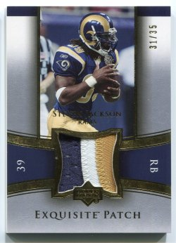 2005 Upper Deck Exquisite Collection Steven Jackson Gold Patch