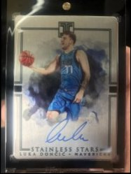 2018-19 Panini Impeccable  Luka Doncic Stainless Stars Auto/99