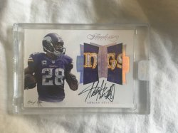 2017 Panini Flawless Adrian Peterson Dual Logo Patch Auto