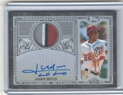 2020 Topps Flagship Juan Soto Reverence Patch Autograph