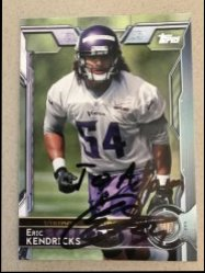 2015 Topps  Eric Kendricks Personalized Auto